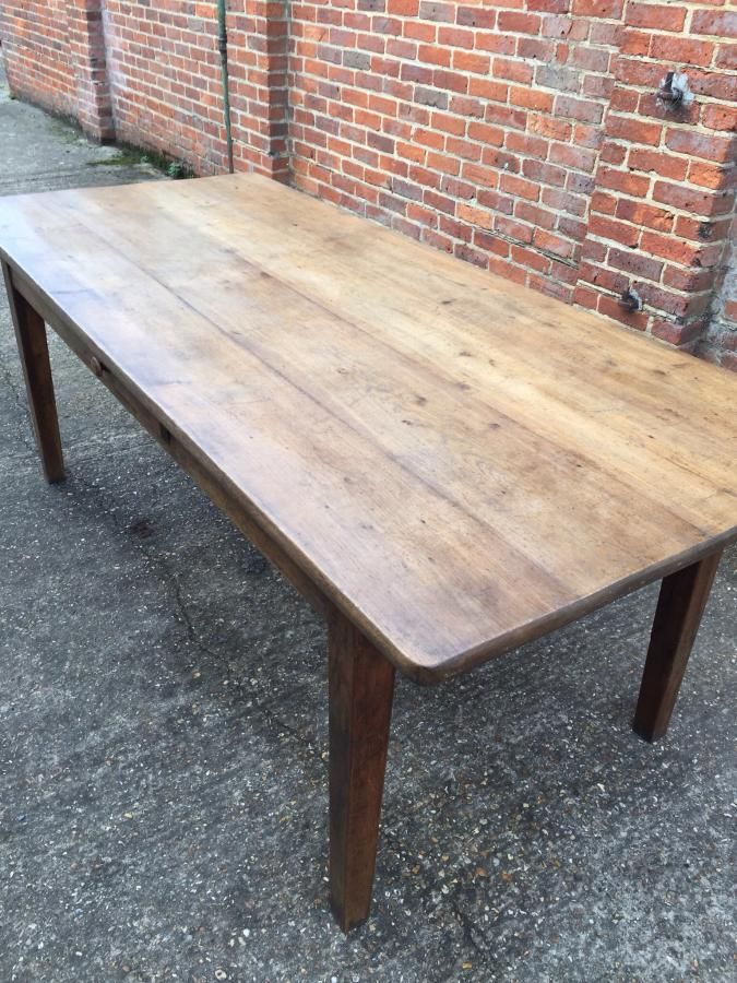 Antique table pale oak. slightly tapered leg with
