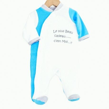 a57d6bc3dcdd8 Pyjama mixte pour bébé prématuré 45 cm brodé Le plus beau cadeau... c est  Moi..!! à 9
