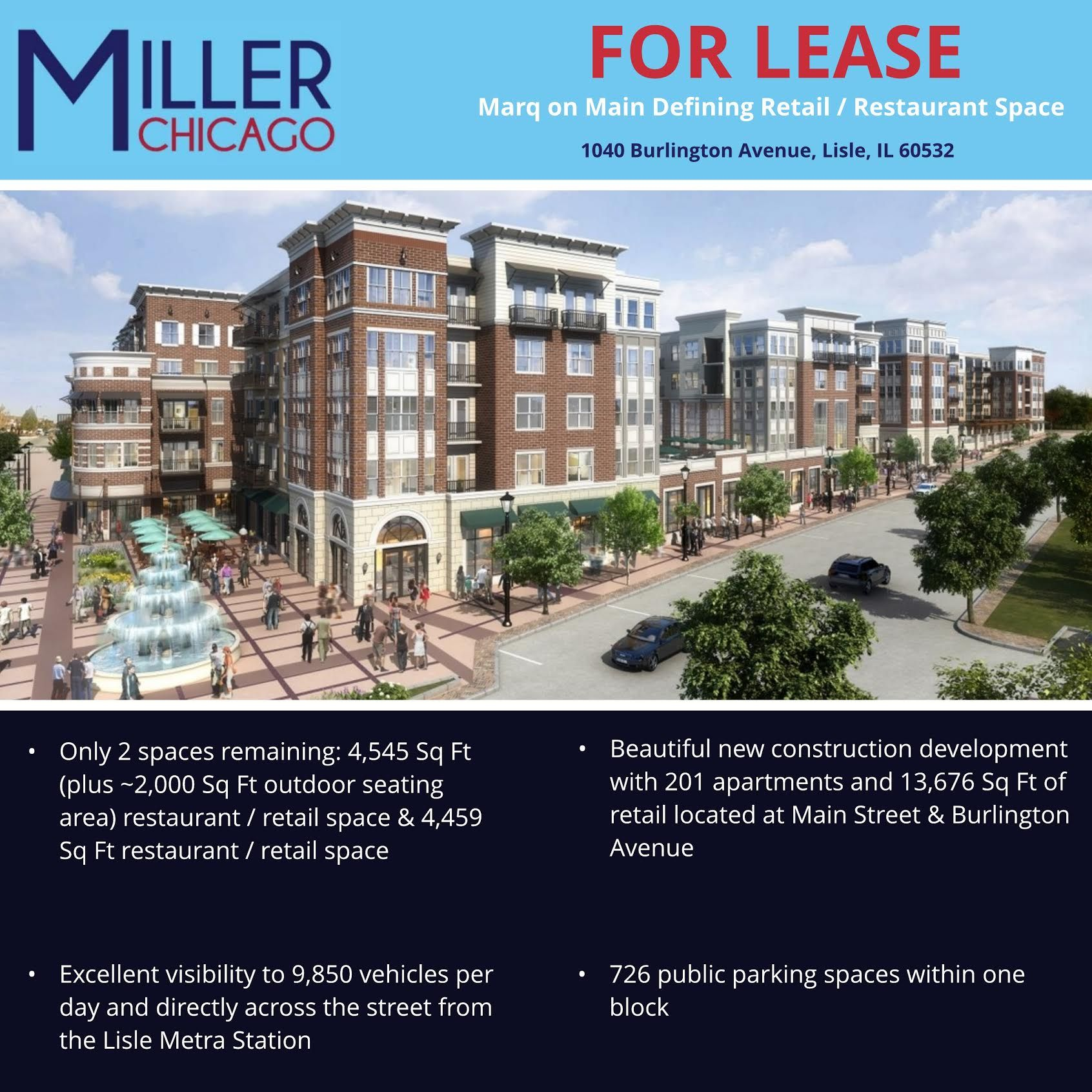 Marq On Main Defining Retail Restaurant Space For Lease In
