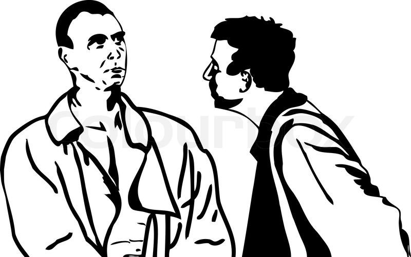 Drawing Of A Man Talking To Another Man Yahoo Image Search Results Drawings Image Art Projects