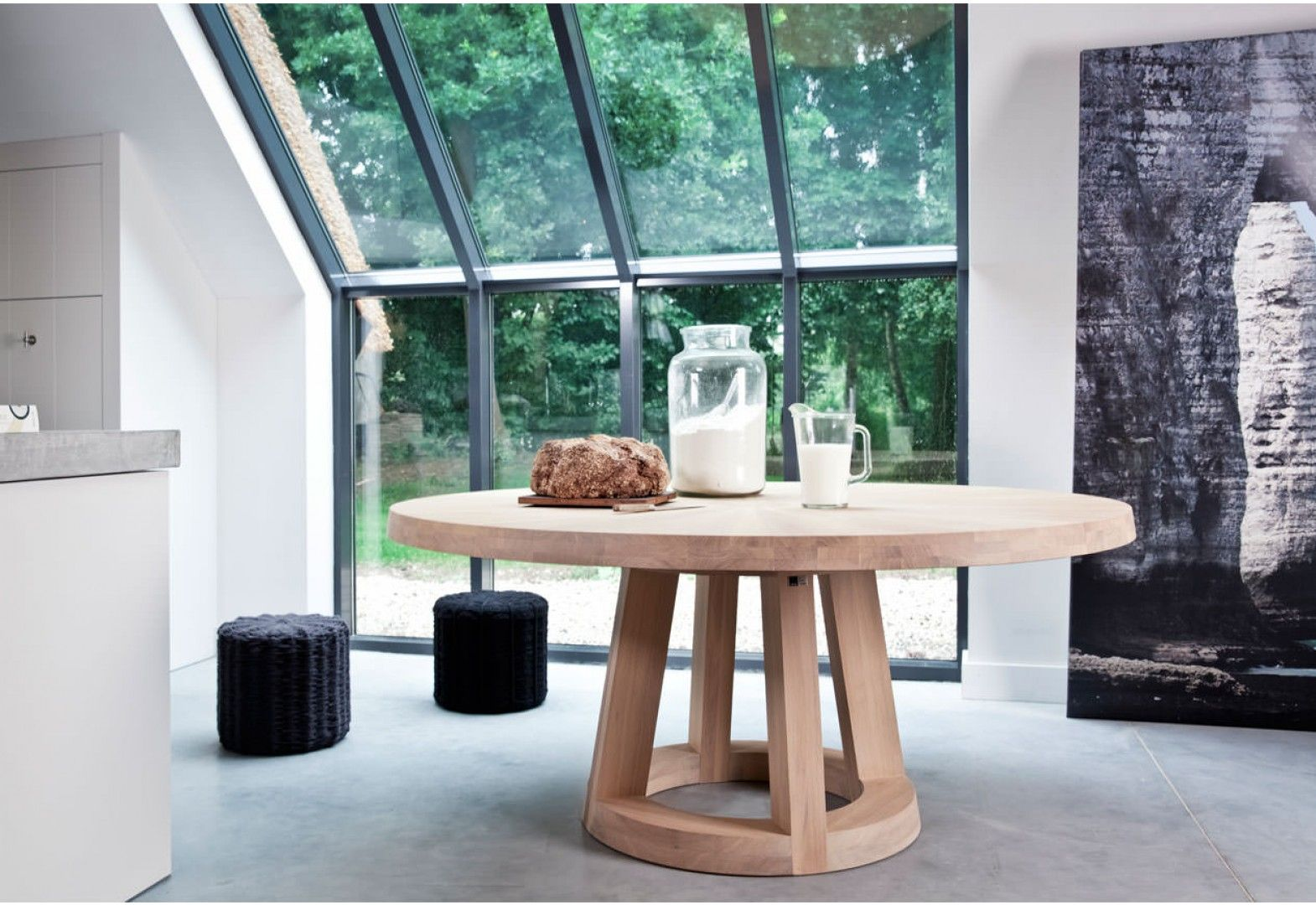 Dutch Design Tafel : Solid ronde houten tafel door remy meijers odesi dutch design