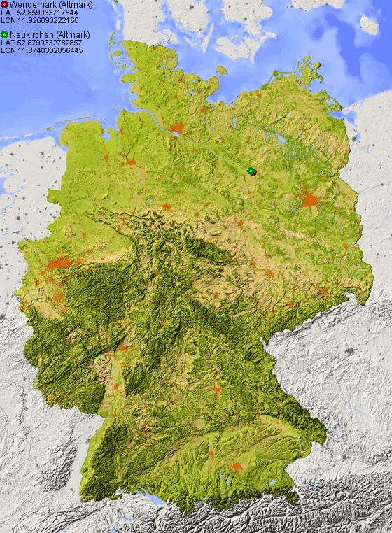 grafik-deutschland-relief-karte-weg.php (560×762). Wendemark = neon ...