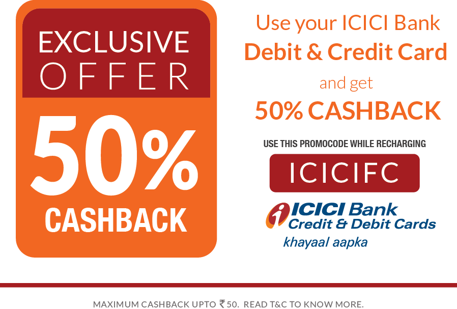 Exclusive Cash Back deal for ICICI Bank customers