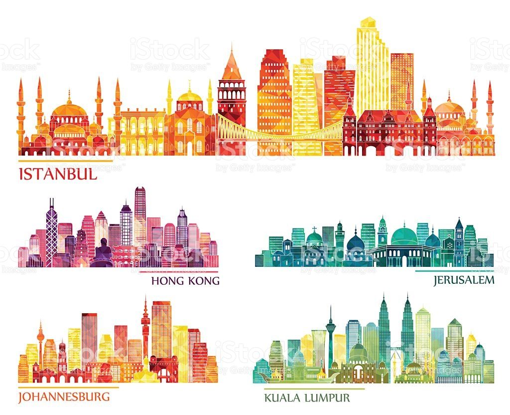 Istanbul Hong Kong Jerusalem Johannesburg Kuala Lumpur Skyline