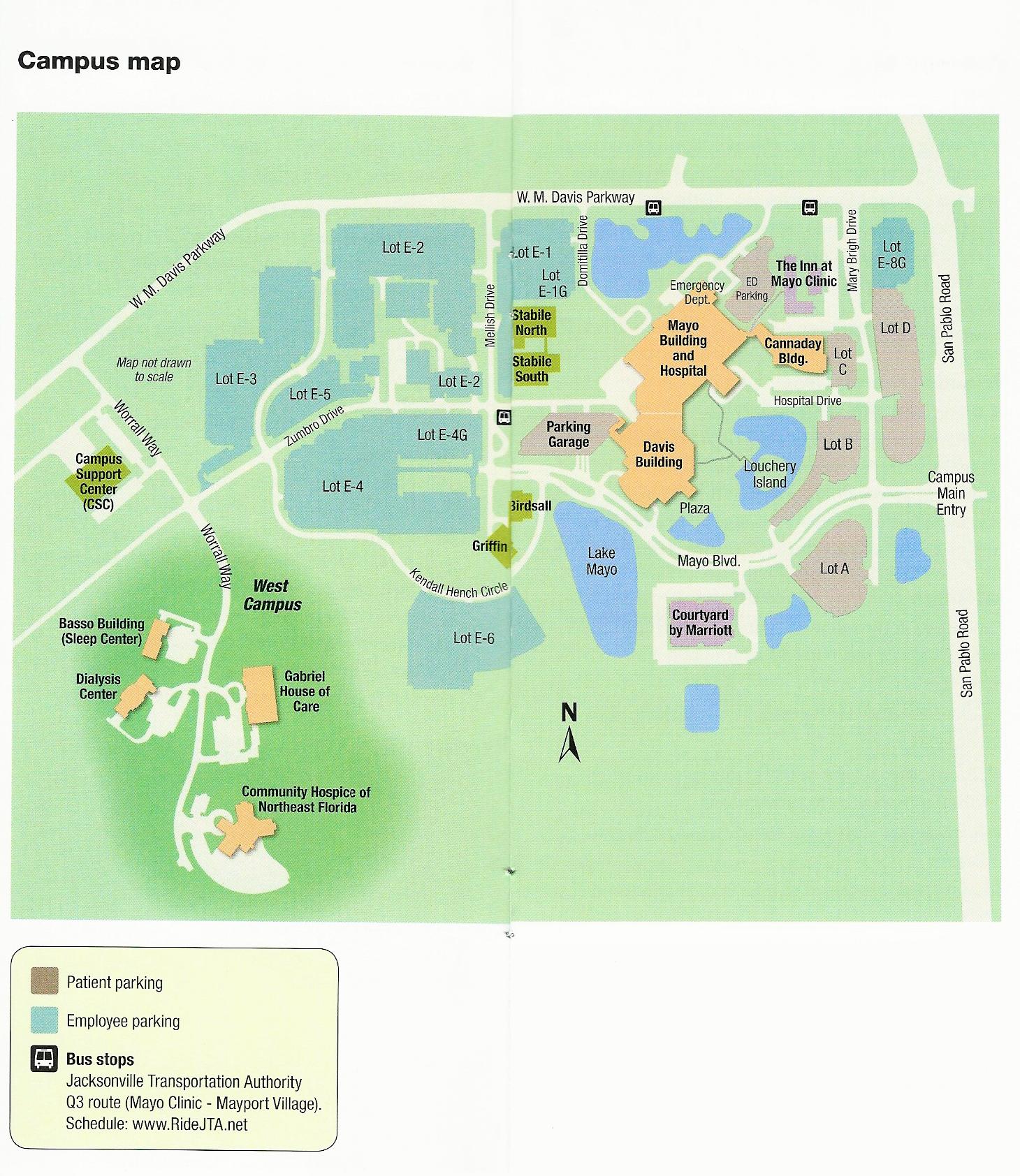 mayo jacksonville campus map Mayo Clinic Florida Campus Map Campus Map Mayo Clinic Clinic mayo jacksonville campus map