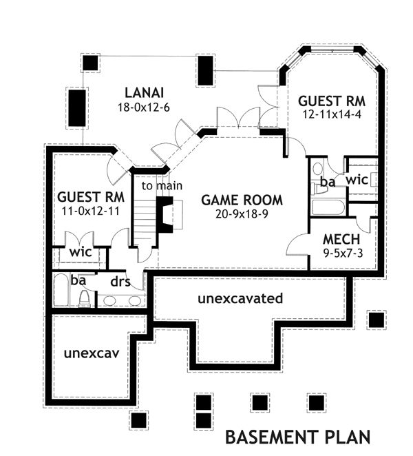 House Plans With Basement charming family cottage in adelaide gets ranch house plans with basement Floor Plan