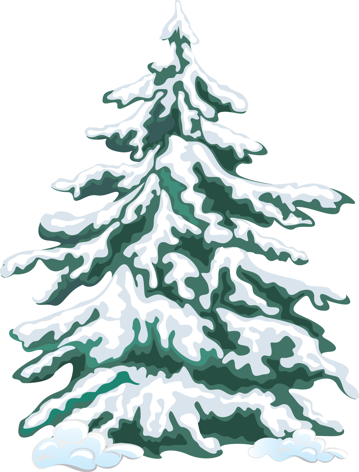 Web Development Winter Trees Christmas Tree Clipart Snow Illustration