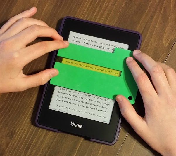 Need More Focus With Your E Reader The Reading Focus Cards Can Help You F Assistive Technology Diy Assistive Technology Devices Low Tech Assistive Technology