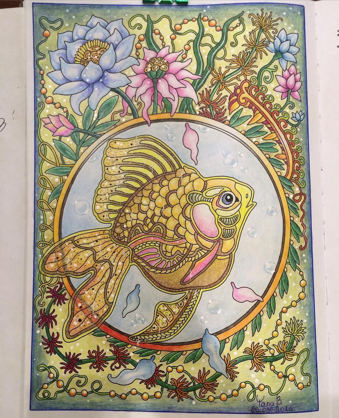 """Рыбка из раскраски """"Ветер уносит цветы"""" от иллюстратора ..."""