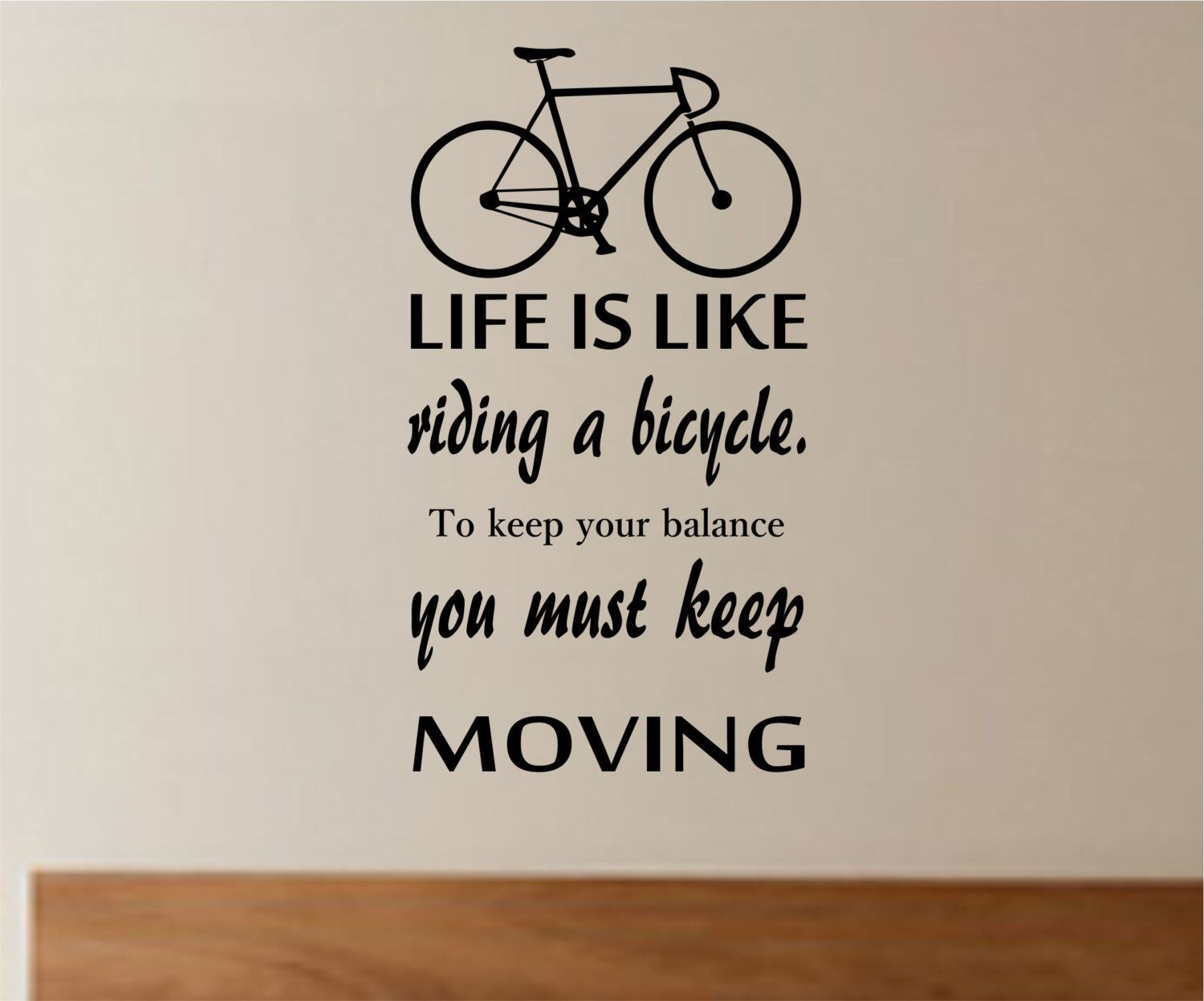 life is like riding a bicycle quote bike quote vinyl wall decal