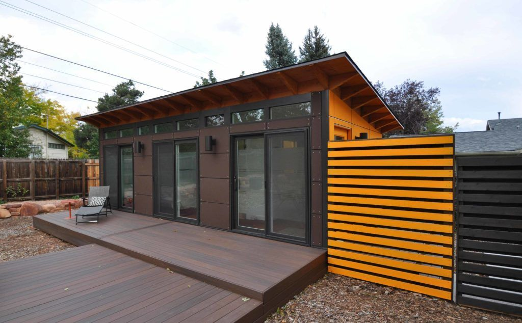 Prefab Backyard Guest House Building A Shed Backyard Guest Houses Contemporary Sheds