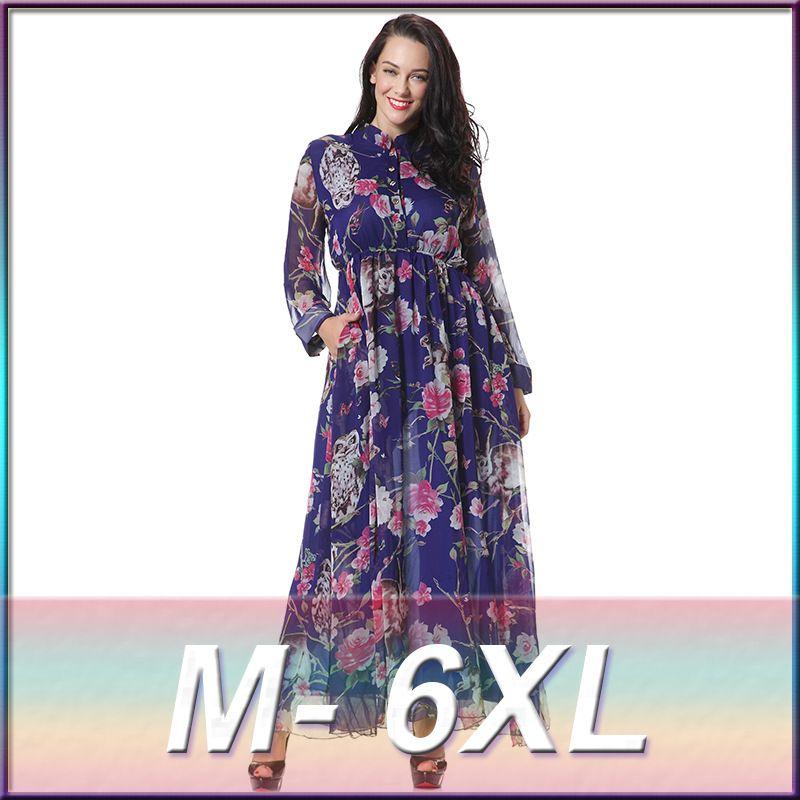 cbad356501b Fashion Muslim Dress Abaya in Dubai Islamic Clothing For Women Muslim Abaya  Jilbab Djellaba Robe Musulmane Floral Print Dress  Islamic clothing