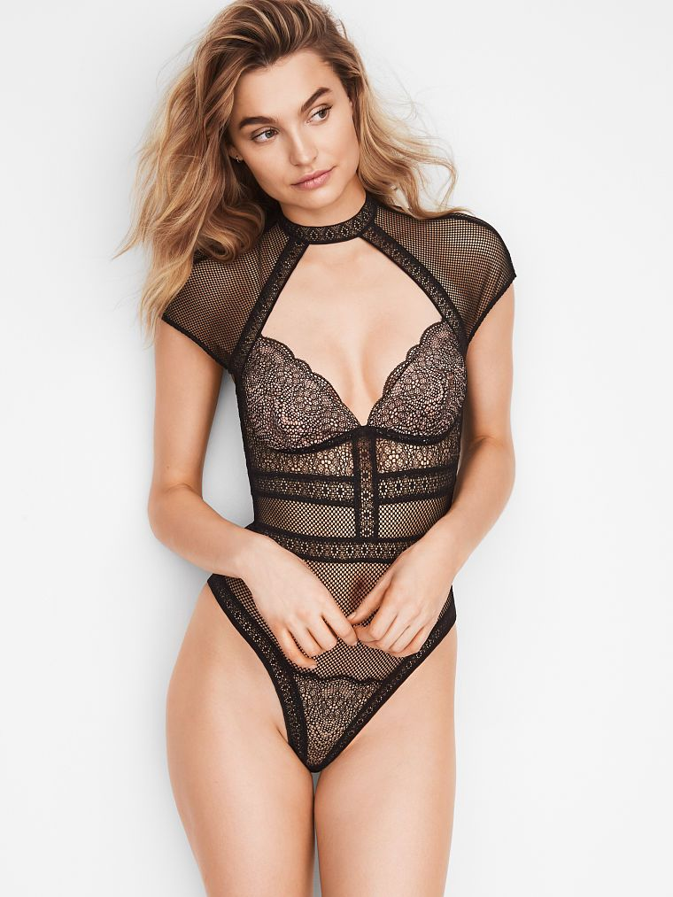96e7ba3c30fa4 Fishnet Lace Cap-sleeve Bodysuit - Very Sexy - Victoria s Secret ...