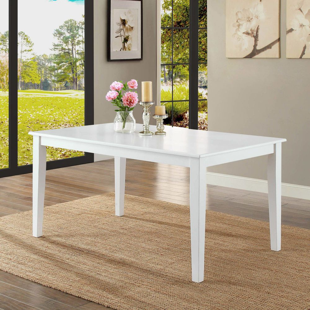 6 person table country white kitchen long dining room