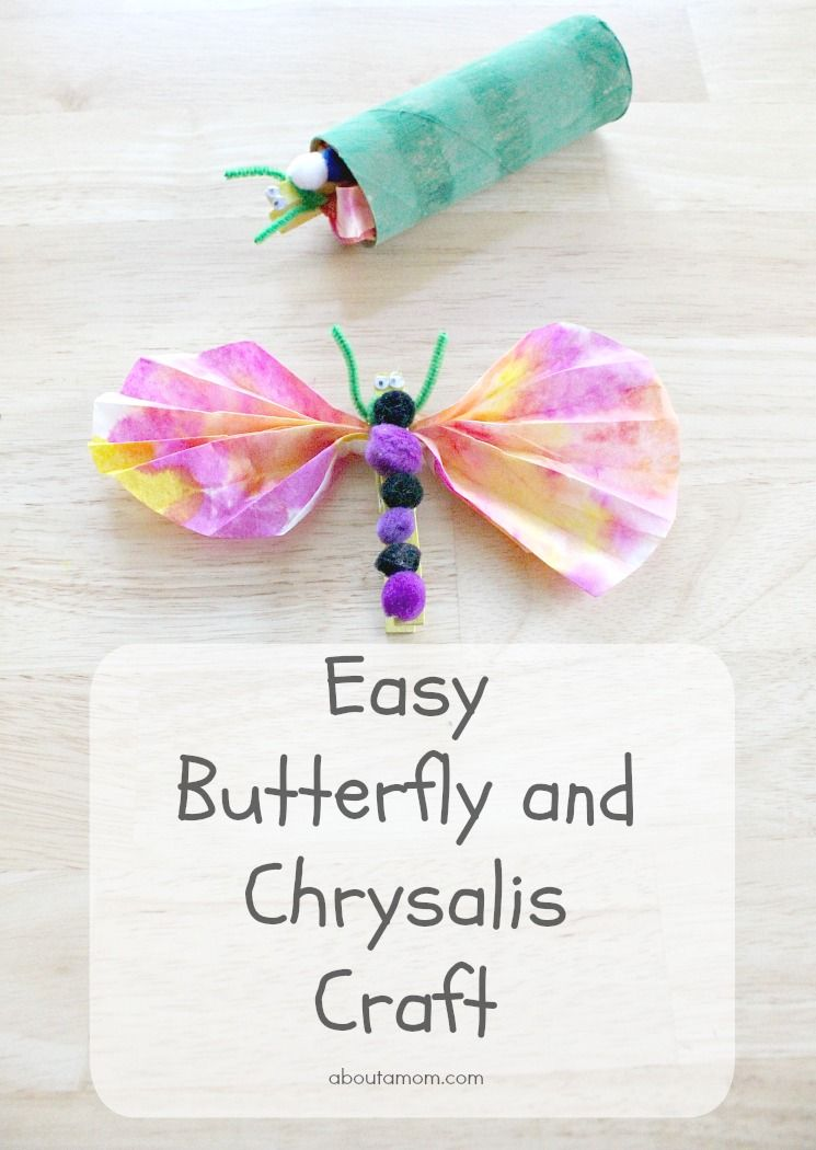 Easy Butterfly And Chrysalis Craft For Kids Butterfly Preschool