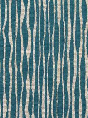 Turquoise Abstract Upholstery Fabric - Modern Blue Fabric For