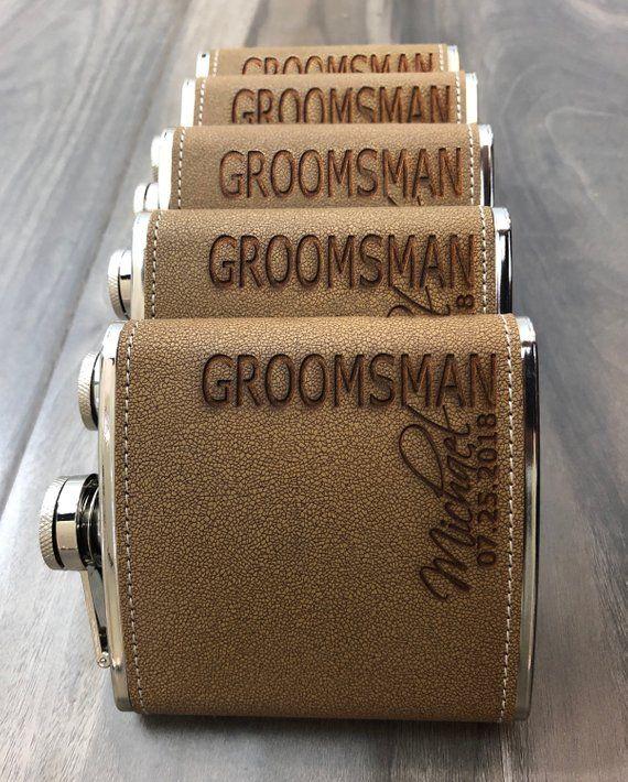 Groomsman Gift | Bridesmaid Proposal | Groomsmen Proposal | Best Man Proposal | Personalize Flask Engraved Box Set | Wedding Party Gift