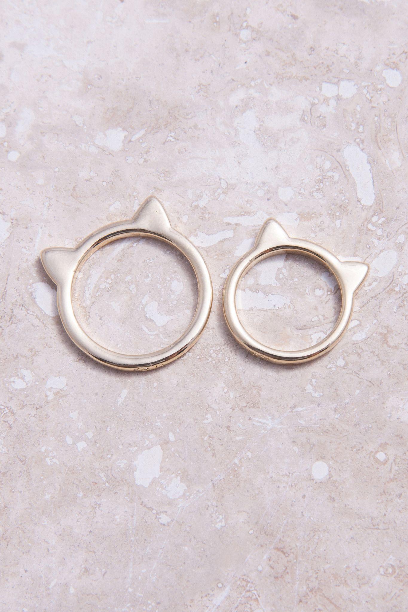 Kitty Kat Ring Set