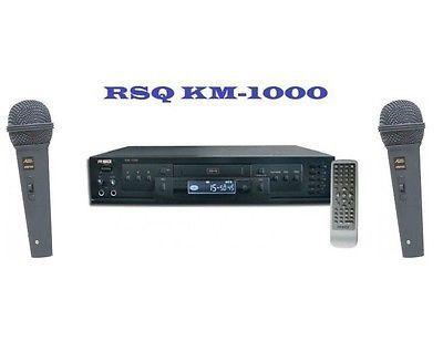 RSQ KM-1000 MULTIFORMAT DVD CD+G PLAYER KARAOKE & 2 WIRED MICS! $300 Value!!!