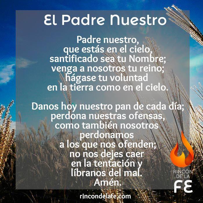 El Padre Nuestro es la oración cristiana más importante Rezada - resume no nos