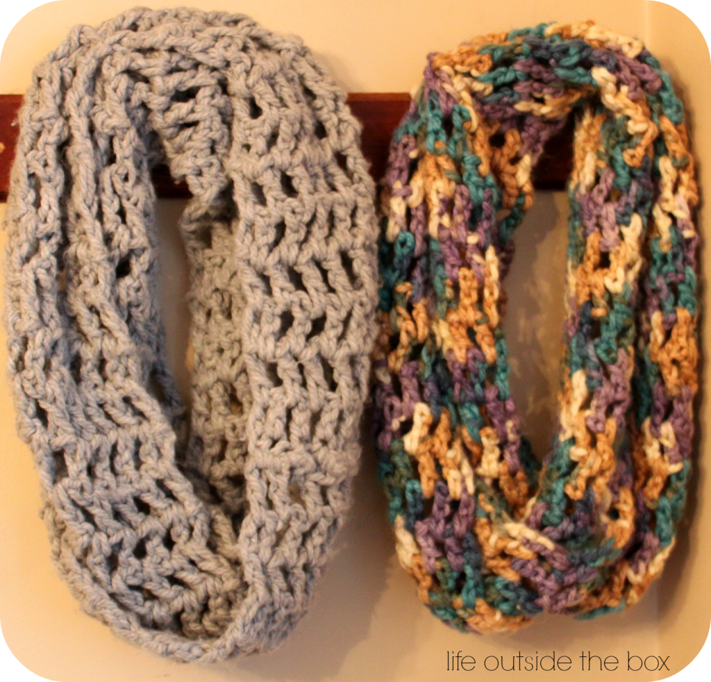 chunky 3 infinity scarf. perfect beginner scarf. | Crochet ...