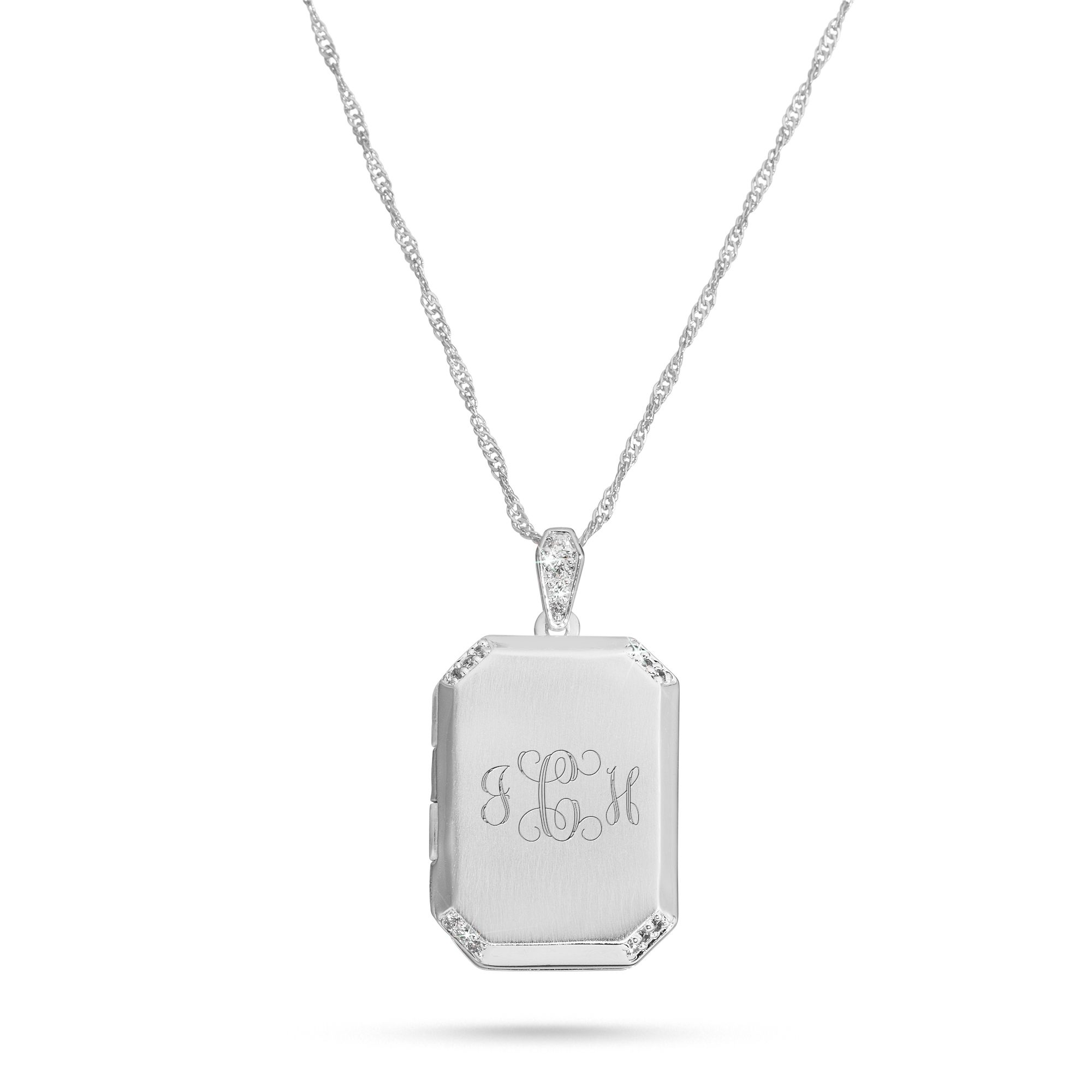 exquisite minimalist silver necklace polygon products pb img sterling lockets in square r locket sided