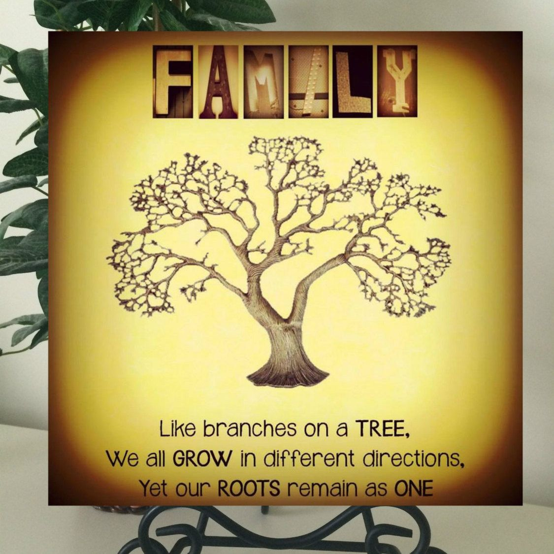 FAMILY TREE WALL Art~ Alphabet Art Photography-Name Print~Home Decor ...