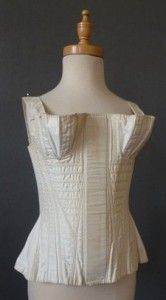 1820s corded corset from meg andrews auctions currently