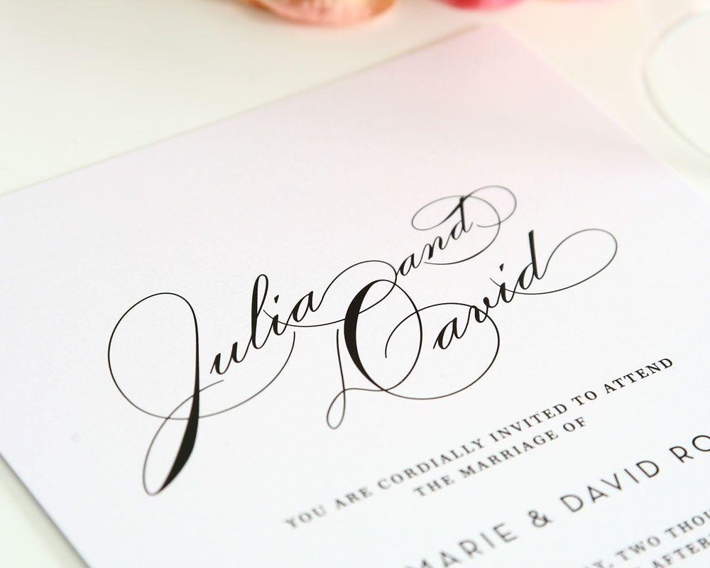 Vintage Glam Wedding Invitations | Modern vintage weddings, Vintage ...