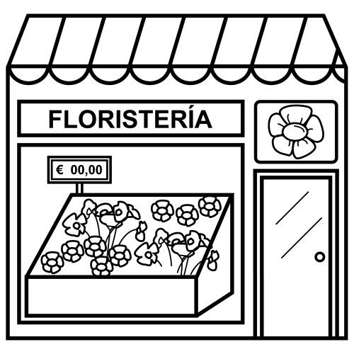 Recursos Para Educacion Infantil Dibujos De Tiendas Y Edificios Tiendas Educacion Infantil Fichas