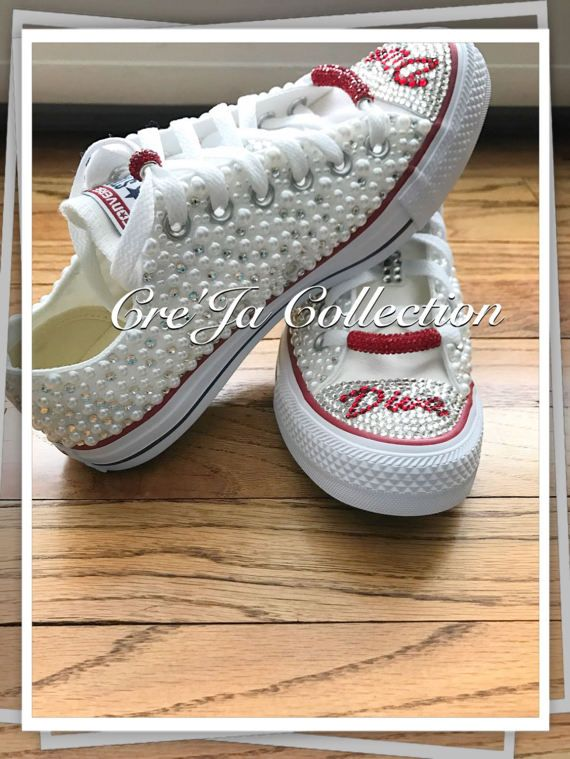 2b007f7968ba Wedding Converse Custom Converse Bling Converse Diamond