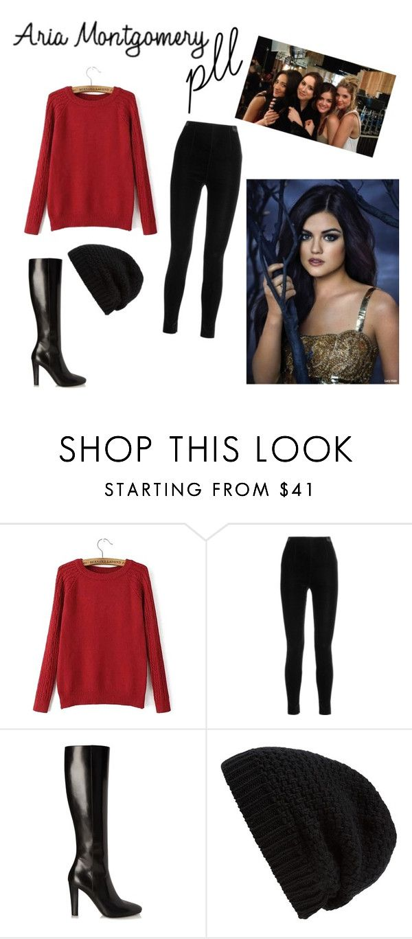 """#aria #pll #A #favorit"" by veronikazric ❤ liked on Polyvore featuring Balmain, Yves Saint Laurent and Rick Owens"