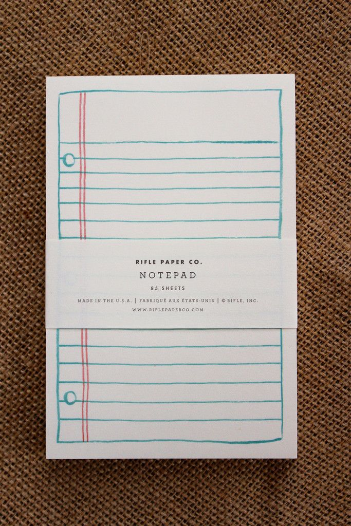 Simple Lined Paper Notepad Colors, Paper and Natural - printing on lined paper