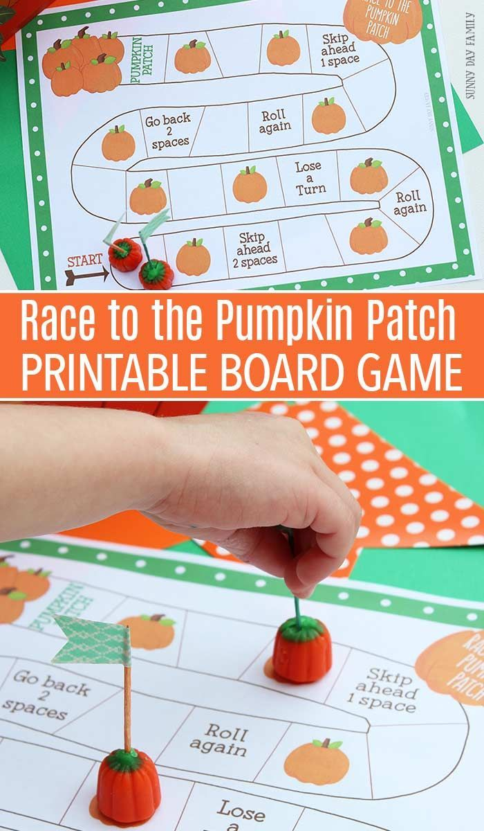 race to the pumpkin patch: free printable board game | playful