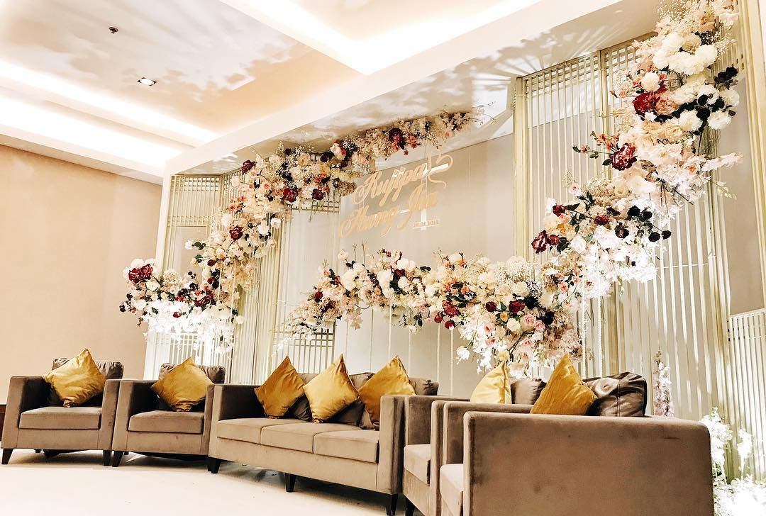 Engagement Stage Flowers Decor Stage Backdrop Wedding