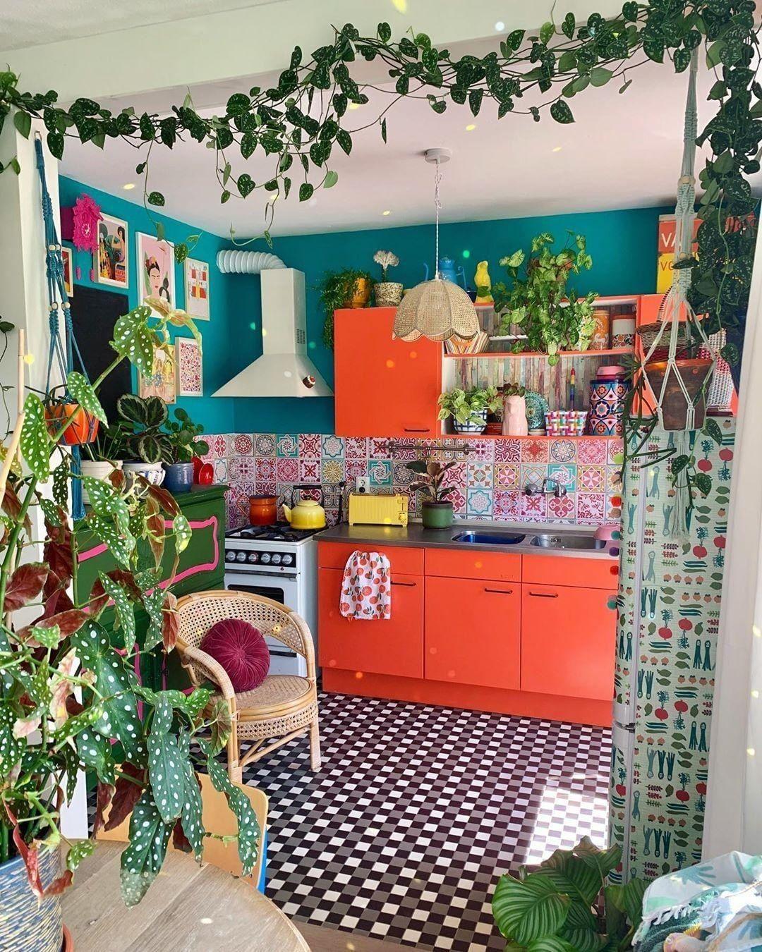 Modern Bohemian Kitchen Designs (avec images)  Deco maison