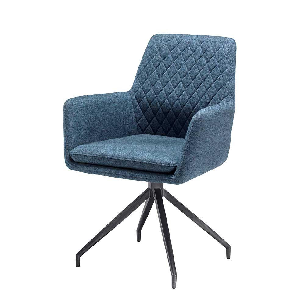 Stuhl Mit Armlehnen Mit Webstoff Petrol Runiera Wohnen De Polsterbank Stuhle Armlehnstuhl