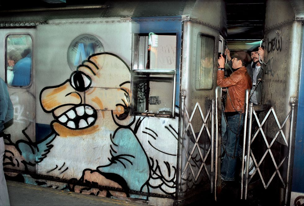Character with Kids (1981) Street art graffiti, Subway