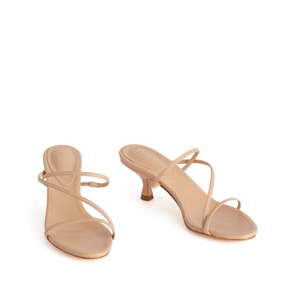 Evenise Kitten Heel Mule Sandal Schutz Shoes Schutz