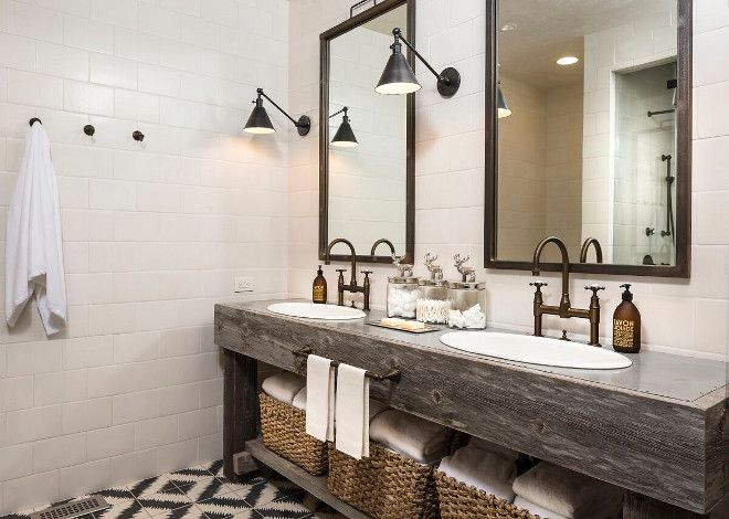 Reclaimed Wood Double Vanity Bathroom Reclaimed Wood Double
