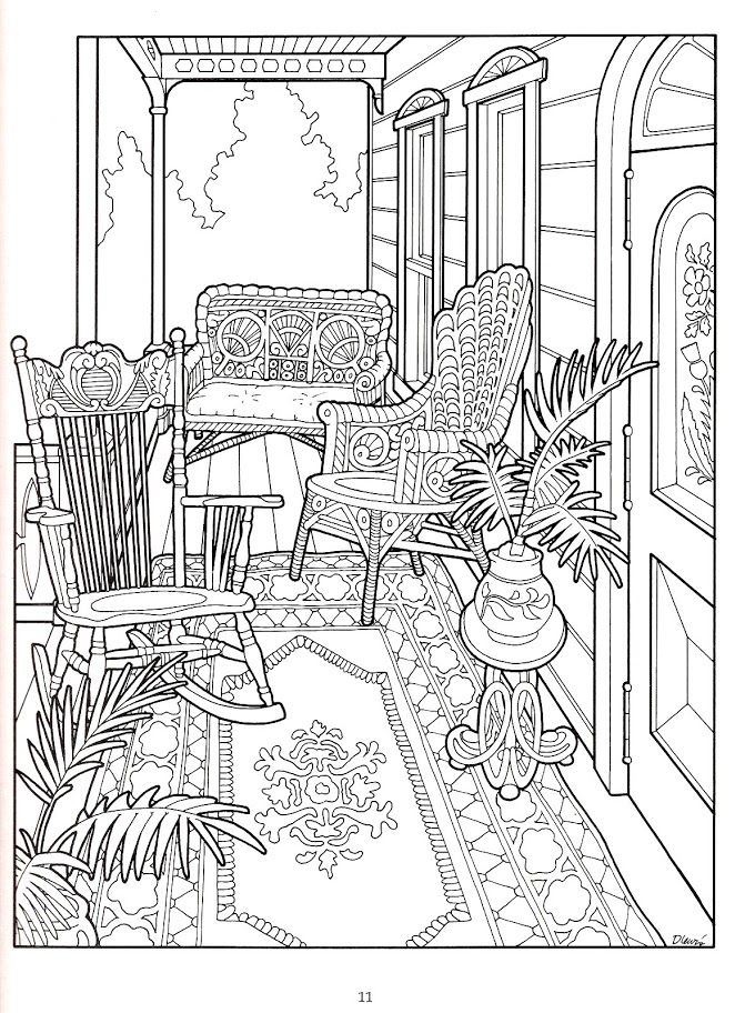 The Victorian House Coloring Book | Kresby | Pinterest | Colorear ...