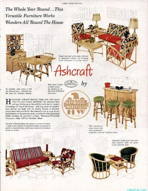 1950 HEYWOOD WAKEFIELD Furniture Ad