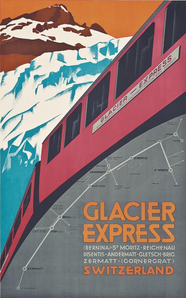 Anonymous, 1925, Glacier Express, Swiss.