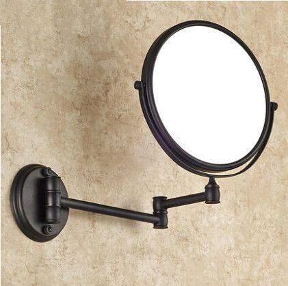 Mirror Brand Suppliers Antique Black 8 Inch Bathroom Mirrors Magnifying With Wall Mounting Cosmetic Illuminated