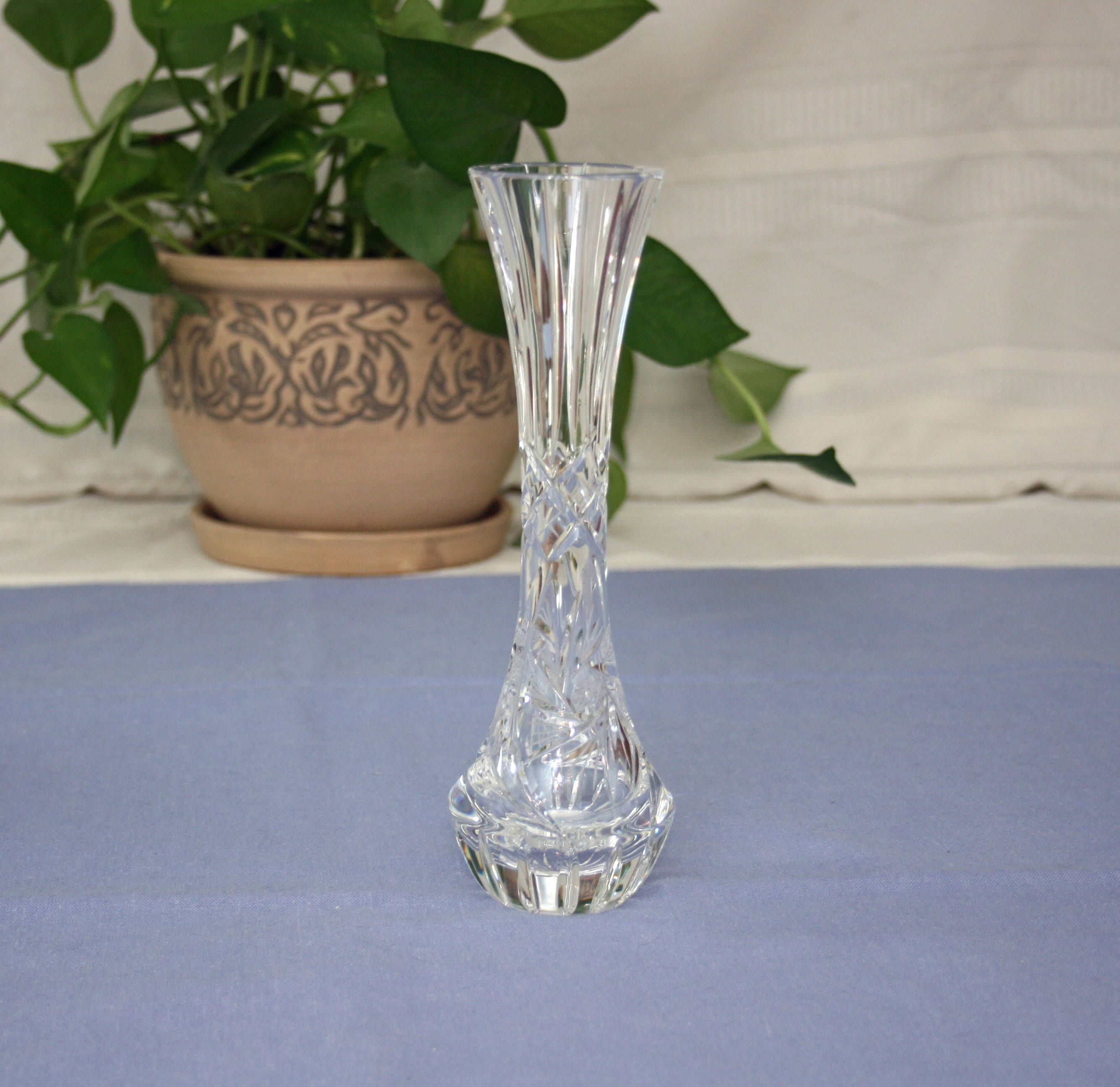 cut glass vase of star medium david pattern fullxfull zoom listing heavy flower crystal il vintage