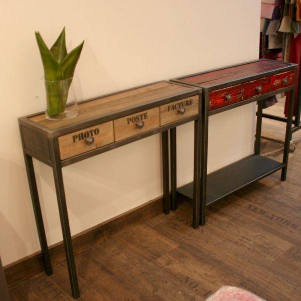 Console Bois Metal console bois | industrial | pinterest | furniture, industrial