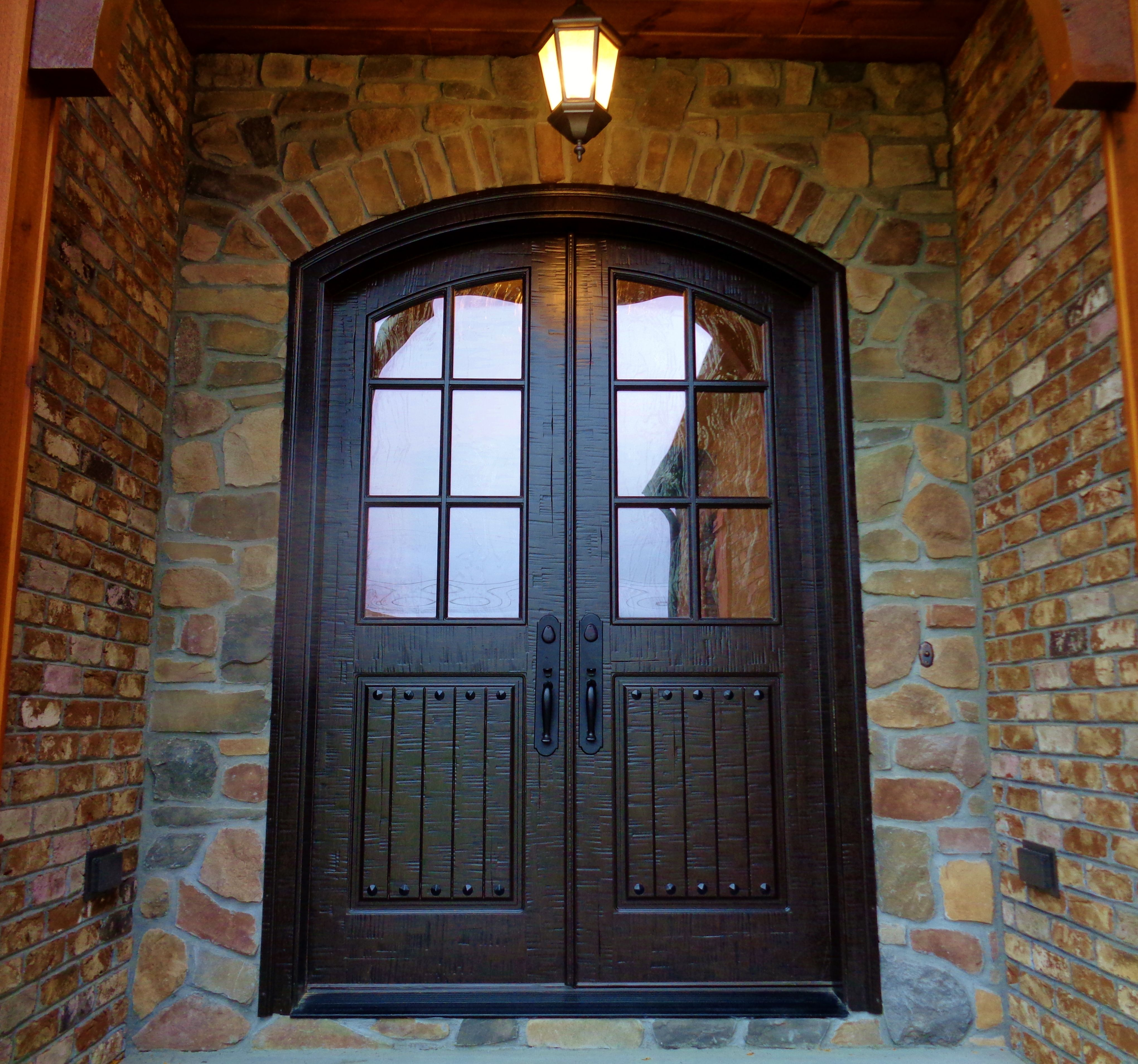 French Exterior: Masterpiece Doors & Shutters Classic French Double Entry