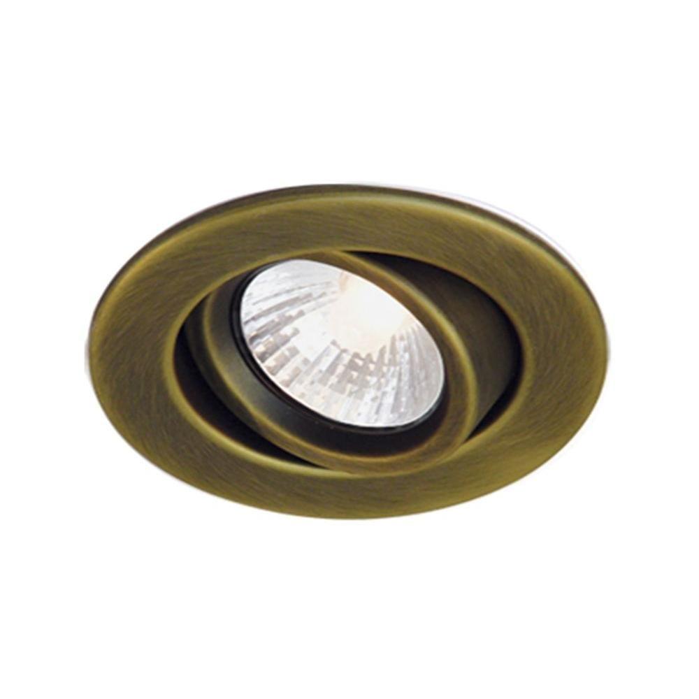 BAZZ 300 Series 4 In. Halogen Recessed Antique Brass Light