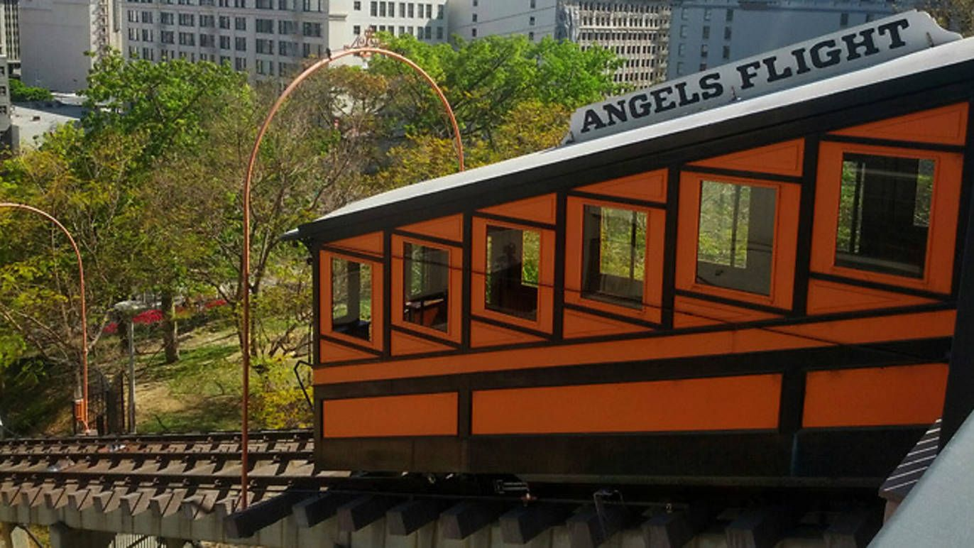 Angels Flight Should Be Running Again By Labor Day Angel Flight Los Angeles Sights Angel