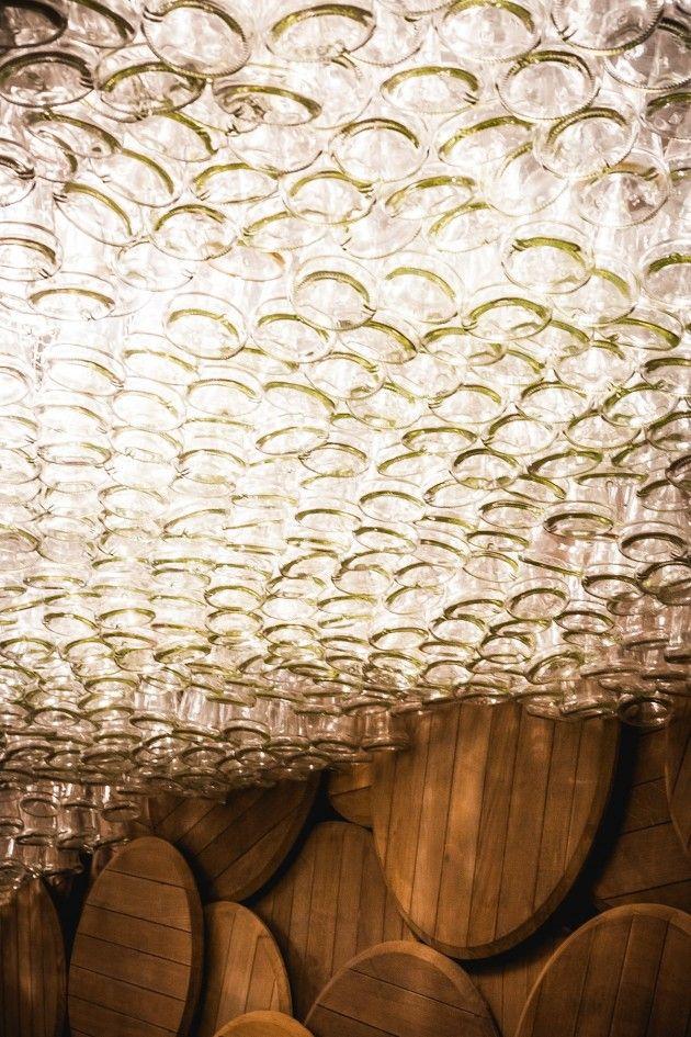 Shustov Brandy Bar by Denis Belenko Design Band #ceiling #bottle